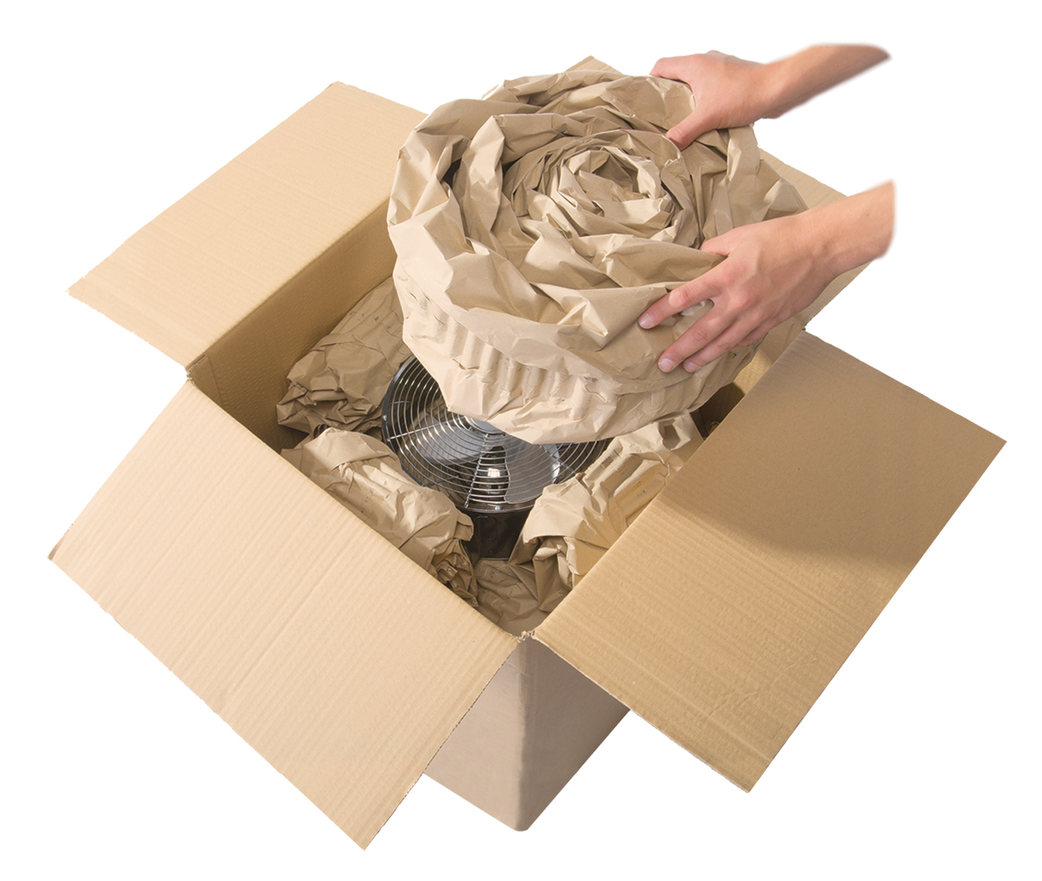 Easypack fan pack coiling rapid packaging 1