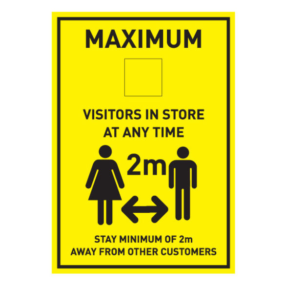 Maximum Visitors A3 Sign