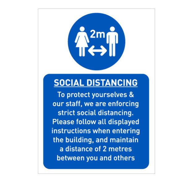 Social Distancing A3 Sign