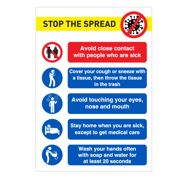 Stop The Spread A3 Sign