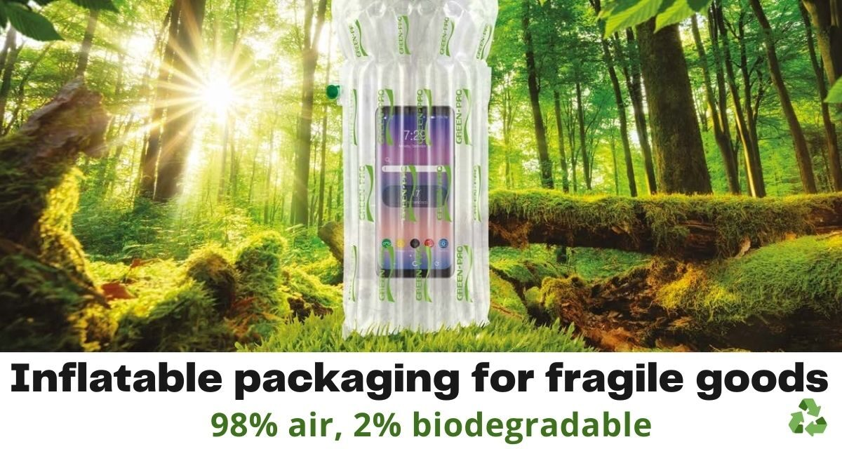 Green-Paq Inflatable Packaging for Fragile Goods